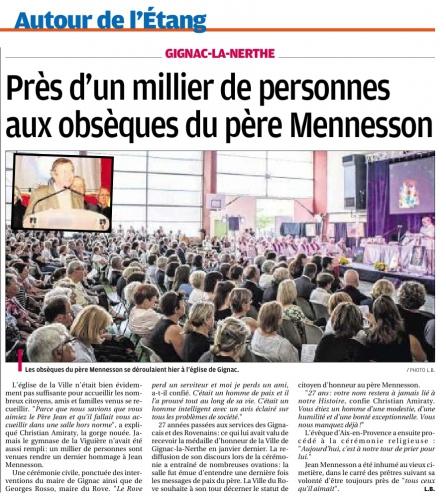 La Provence 13 juin 2015 ADIEU AU PERE JEAN.jpg
