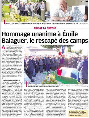 La Provence 25 janv 2014 - HOMMAGE A BALAGUER.png