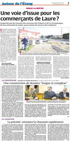 La Provence du 14 février 2014 COMMERCANTS TRAVAUX.png
