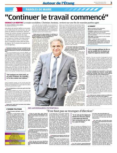 La Provence mardi 17 décembre 2013 - interview du maire.png