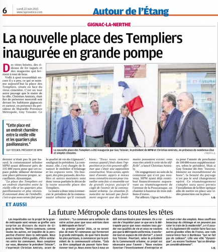 La Provence 22 juin 2015 Inauguration Pce des Templiers.jpg