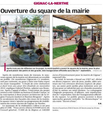 La Provence 25 juillet 2013 Ouverture du square mairie.jpg