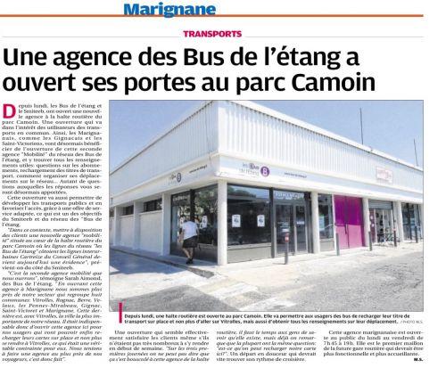 BUS DE L'ETANG La Provence du 7 JUIN 2014.png