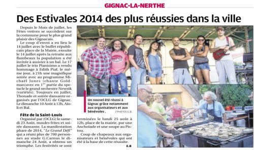 La Provence 29 AOUT 2014 ESTIVALES 2014.png