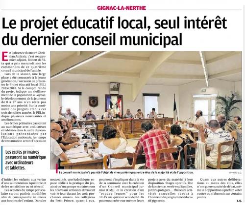 La Provence 26 juillet 2015 conseil municipal 22 juillet  1.jpg