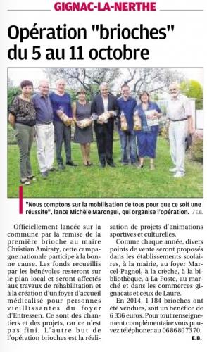 La Provence 1er oct 2015 Opération brioches Chrysalide.jpg