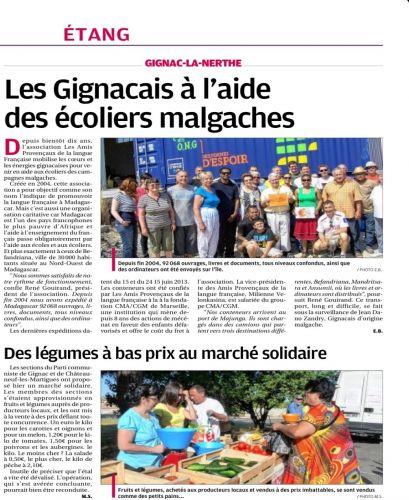 GIGNAC. Aide aux écoliers malgaches et marché solidaire.jpg