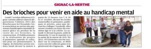 La Provence 4 octobre 2013 Brioches La Chrysalide.png