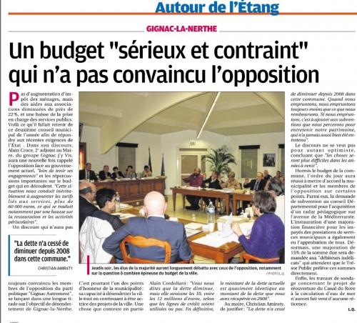 La Provence 11 avril 2015 Budget.jpg