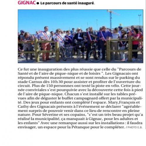 La Provence 25 septembre 2013 - Parcours de santé.png