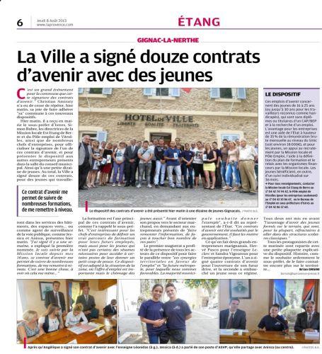 La Provence 8 AOUT 2013 CONTRATS D'AVENIR.jpg