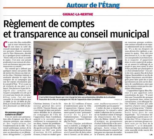 La Provence 14 juin 2015 Budget vrais chiffres.jpg