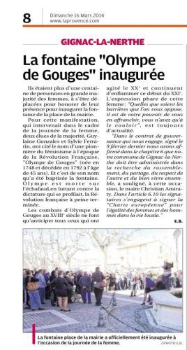 LA PROVENCE 16 MARS 2014 LA FONTAINE.png