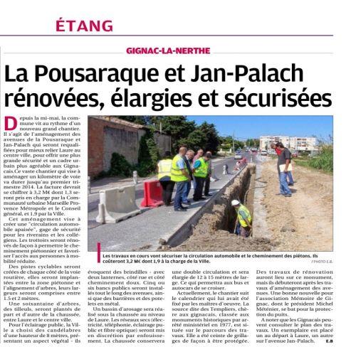 La Provence vendredi 28 juin 2013 chantier Pousaraque.jpg
