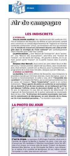 La Provence 18 février 2014 RUMEUR FAUX POLICIERS.png
