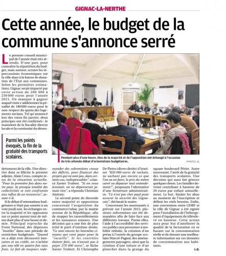 La Provence 15 février 2015 CR CM du 12 FEV.jpg