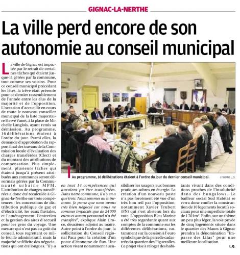 La Provence 18 décembre 2015 Conseile municipal du 15 déc.jpg